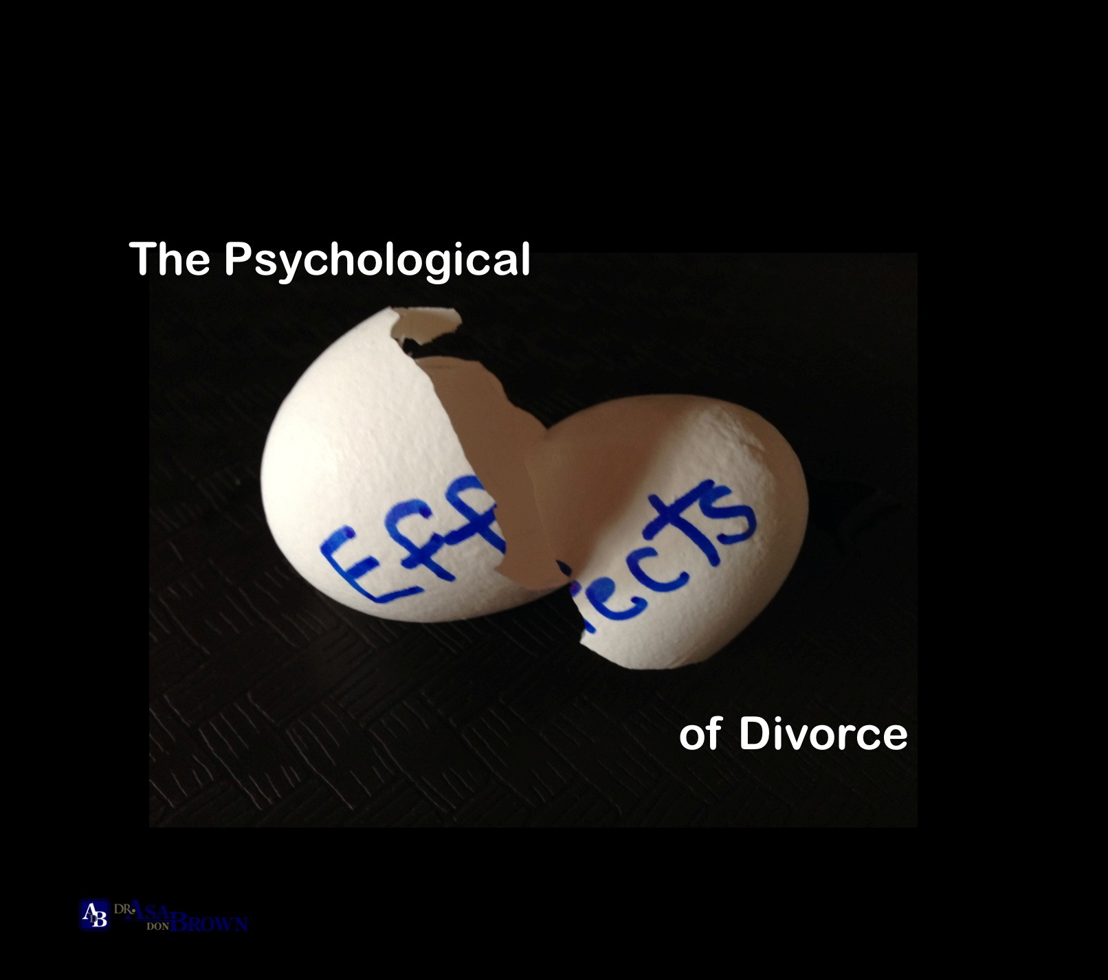 the effect of divorce These days, people are taking marriage and divorce very lightly not realising the consequences following those events, especially the impact on.
